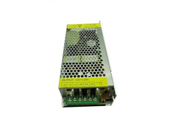 Блок питания ORIENT PB-40U3 12V DC 20000mA блок питания orient pb 40u3 output 12v dc 20a стабилизированный защита от кз и перегрузки imax 21 5a регулятор напряжения 3 выхода металличес