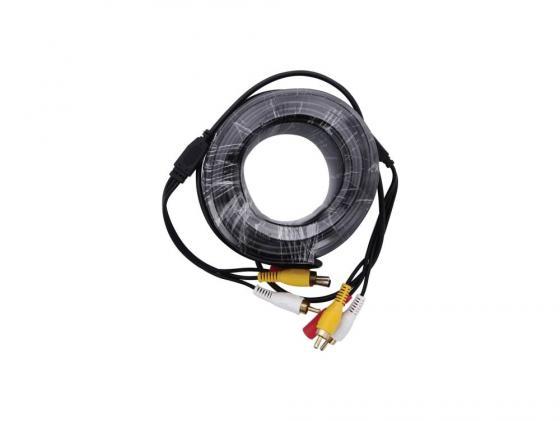 Кабель для камер видеонаблюдения BNC+RCA+питание 20м Orient CVAP-20 OEM кабель orient для камер видеонаблюдения cvap 20 видео bnc аудио rca питание 20 м oem