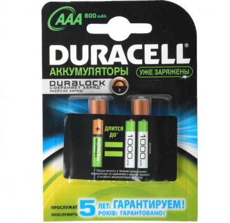 Аккумуляторы 850 mAh Duracell Turbo HR03-2BL AAA 2 шт аккумуляторы hr06 aa duracell turbo ni mh 2400 2500 mah 2шт