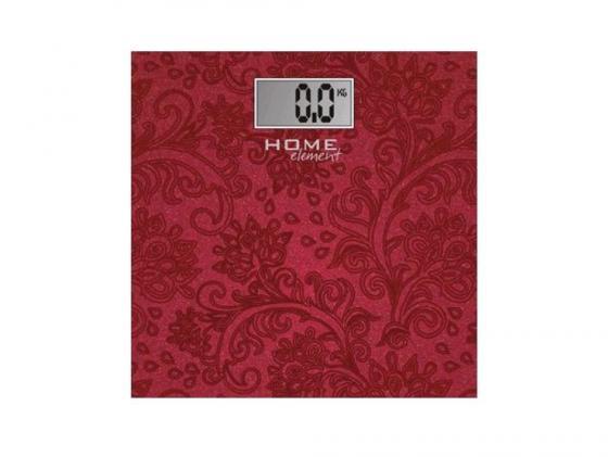 Весы напольные HOME ELEMENT HE-SC904 красный цена