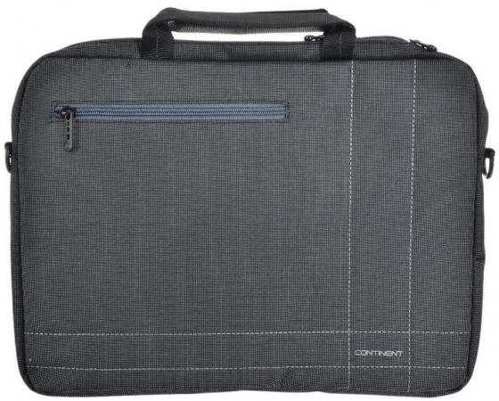 Сумка для ноутбука 15.6 Continent CC-201GA нейлон серый 40x30x5см сумка для ноутбука 15 continent cc 045 серый нейлон пвх