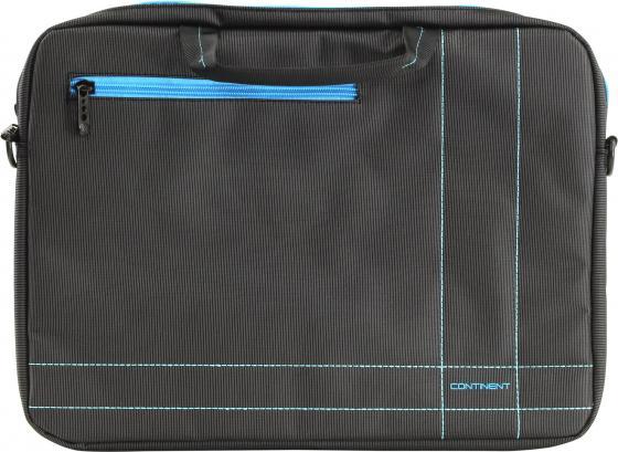 Сумка для ноутбука 15.6 Continent CC-201GB нейлон серый/синий 40x30x5см