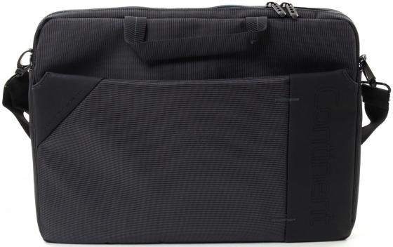 Сумка для ноутбука 15.6 Continent CC-205GA нейлон серый 40x30x6см сумка для ноутбука 15 continent cc 045 серый нейлон пвх