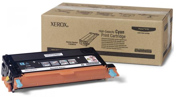 Картридж Xerox 113R00723 для Phaser 6180 голубой 6000 страниц картридж xerox 113r00726 для phaser 6180 6180mfp черный 6000 страниц