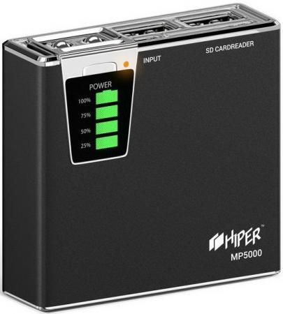 все цены на Внешний аккумулятор Power Bank 5000 мАч HyperJuice MP5000 черный