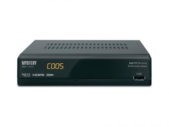 Тюнер цифровой DVB-T2 MYSTERY MMP-71DT2 черный original dvb t satlink ws 6990 terrestrial finder 1 route dvb t modulator av hdmi ws 6990 satlink 6990 digital meter finder
