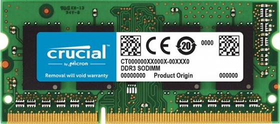 Оперативная память для ноутбука 4Gb (1x4Gb) PC3-12800 1600MHz DDR3 SO-DIMM CL11 Crucial CT51264BF160BJ модуль памяти crucial pc3 12800 so dimm ddr3l 1600mhz 4gb ct51264bf160bj