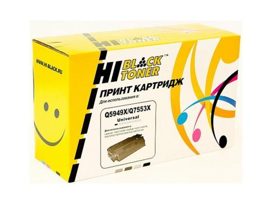 Картридж Hi-Black для HP Q5949X/Q7553X LJ P2015/1320/3390/3392 7000стр картридж sakura q5949x q7553x для hp lj 1320 1320n 1320nw 1320t 1320tn m3390mfp m3392mfp p2015 m2727nfmfp m2727mfsmfp 6000стр
