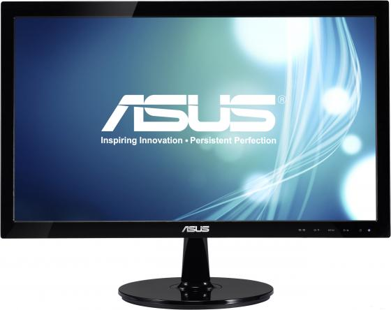 Монитор 20 ASUS VS207T-P черный TFT-TN 1600x900 250 cd/m^2 5 ms DVI VGA Аудио монитор asus vs207t p