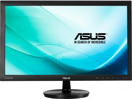 Монитор 24 ASUS VS247HR черный TN 1920x1080 250 cd/m^2 2 ms DVI HDMI VGA Аудио 90LME2301T02231C- монитор 21 5 asus ve228tlb черный tft tn 1920x1080 250 cd m^2 5 ms dvi vga аудио usb