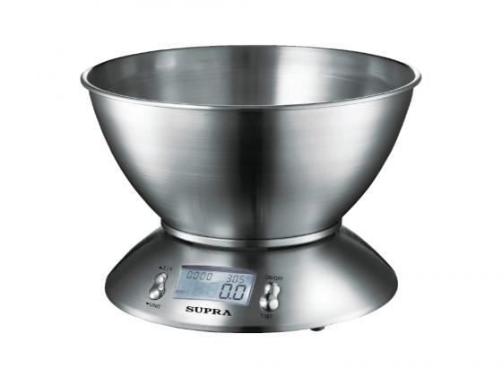 цена Весы кухонные Supra BSS-4095 электронные серебристый