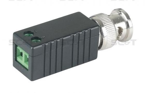Фото - Приемопередатчик SC&T TTP111VE пассивный 1-канальный для передачи видеосигнала кабелю витой паре CAT5 приемопередатчик аудиосигнала sc