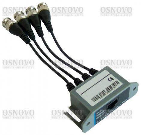Приемопередатчик видеосигналов OSNOVO TP-C4R 4-канальный по витой паре 600 м приемопередатчик видеосигналов osnovo tp c32 32 канальный по витой паре 600 м