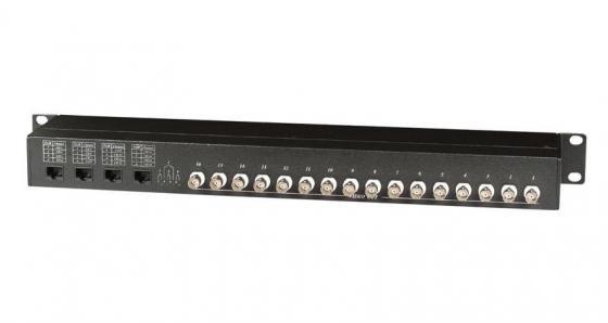 Фото - Приемопередатчик видеосигнала SC&T TPP016-RJ45 пассивный 16-канальный по витой паре на 600 м приемопередатчик аудиосигнала sc