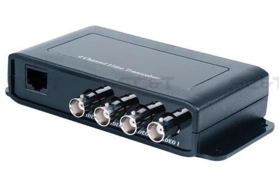 Фото - Приемопередатчик видеосигнала SC&T TTP414VH 4-канальный по витой паре на 600 м приемопередатчик аудиосигнала sc