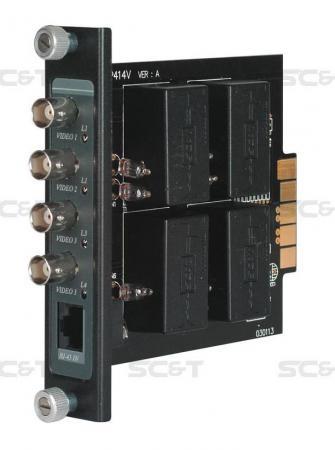 Фото - Приемопередатчик видеосигнала SC&T TRP414VH 4-канальный по витой паре на 600 м с повышенной помехоустойчивостью приемопередатчик аудиосигнала sc