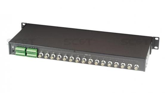 Приемник видеосигнала SC&T TPA016 активный 16-канальный по витой паре до 2400 м приемник futaba 4 канальный r2004gf 2 fhss sport 2 4g для передатчиков futaba 3plg futaba 4plg и futaba