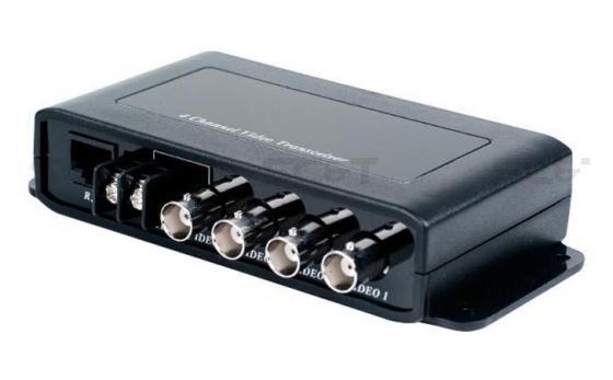 Фото - Приемопередатчик видеосигналов SC&T TTP414VD 4 канала видео по витой паре на 600 м приемопередатчик аудиосигнала sc
