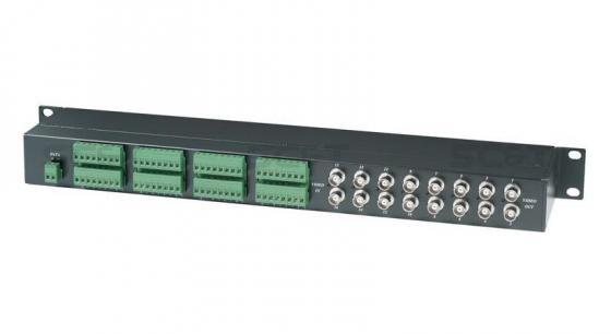 Приемопередатчик SC&T TPP016D пассивный, 16-ти канальный для передачи видеосигналов и данных по витой паре на 600 м 5pcs free shipping bta16 600b bta16 600 bta16 triacs 16 amp 600 volt to 220 new original