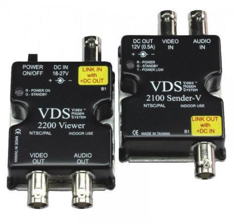 Комплект SC&T VDS 2100/2200 Передатчик VDS 2100 + Приемник VDS 2200 Передача по коаксиальному кабелю до 500 м