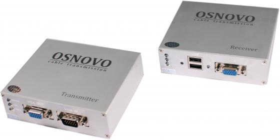 Купить Комплект OSNOVO TA-VKM/3+RA-VKM/3 приемник + передатчик для передачи VGA/Клавиатура/Мышь до 100м