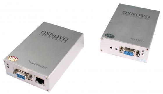 Комплект OSNOVO TA-V/5+RA-V/5 передатчик+приёмник для передачи VGA и аудиосигнала по кабелю UTP CAT5 до 600м приёмник и передатчик для радиосистемы akg dsr700 v2 bd1