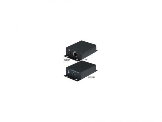 Комплект SC&T HE01S передатчик HE01ST +приемник HE01SR передачи HDMI сигнала по одному кабелю витой пары CAT5/5e/6 на расстояние до 40м zy hhe20 hdbitt ip network hdmi over lan extender by cat5 5e 6 cable support ir