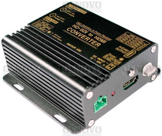 Преобразователь OSNOVO CN-SD/HI формата SDI SD-SDI HD-SDI 3G-SDI в HDMI с дополнительным выходом SDI aikexin 1x2 sdi splitte with 3 5mm jack 2 port sdi splitter 1 to 2 sdi converter adapter with audio for projector monitor camera