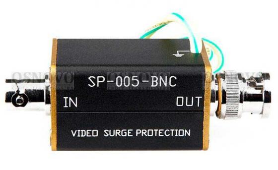 Фото - Устройство грозозащиты OSNOVO SP-CC для цепей видео 1 вход BNC-мама/1 выход BNC-папа видео
