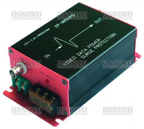 Фото - Устройство грозозащиты OSNOVO SP-CPD/220 для цепей видео питания и данных 110/220B 0.5А видео