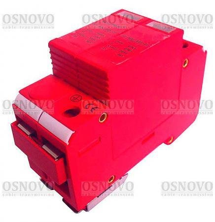 Устройство защиты OSNOVO SP-ACD/220-2 для цепей 220в на Din-рейку Максимальный ток разряда 60кА стабилизатор на din рейку интернет магазин