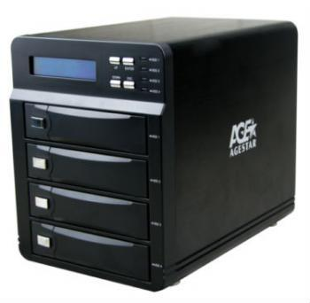 Внешний контейнер для HDD 3.5 SATA AgeStar 3C4B3A 4x3.5 HDD USB3.0 eSATA max16Tb черный a 2015 95% xxxl 8120