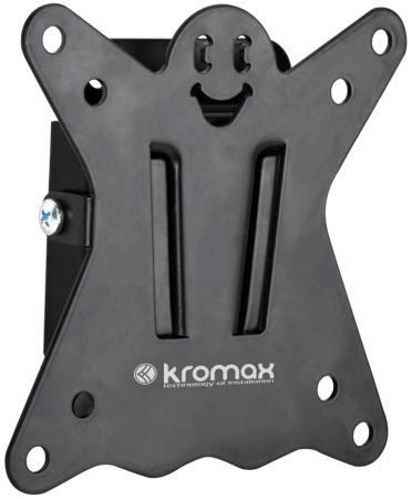 Кронштейн Kromax CASPER-100 черный LED/LCD 10-26 0 степеней свободы 21 мм от стены VESA 100x100 водяной уровень max 15 кг кронштейн наклонно поворотный kromax casper 103 10 26 до 15кг vesa до 100x100