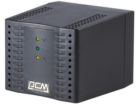 Стабилизатор напряжения Powercom TCA-1200 4 розетки 1 м черный стабилизатор напряжения apc line r ls1500 rs 3 розетки 1 м черный