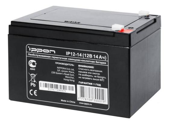 Батарея Ippon IP12-14 12V/14Ah терминал акустический visaton st 77