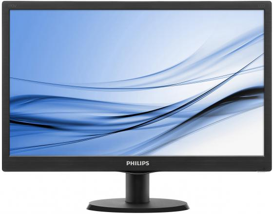 "Монитор 19"" Philips 193V5LSB2/10/62 черный TFT-TN 1366x768 200 cd/m^2 5 ms VGA philips 193v5lsb2"