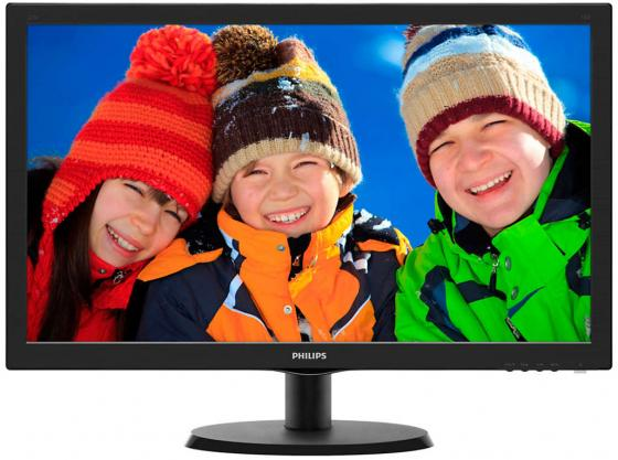 Монитор 22 Philips 223V5LSB00/01 черный TN 1920x1080 200 cd/m^2 5 ms VGA DVI монитор жк philips 220v4lsb 00 01 22 черный