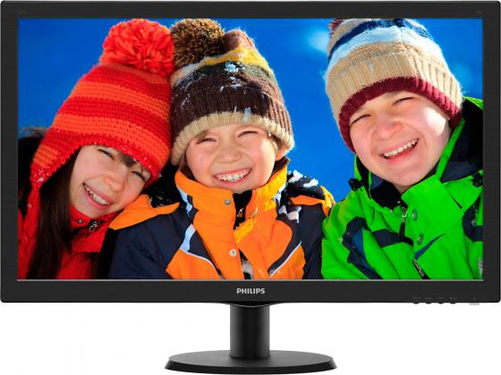 Монитор 27 Philips 273V5LSB/00/01 черный TN 1920x1080 300 cd/m^2 5 ms DVI VGA монитор жк philips 273v7qjab 00 01 27 черный