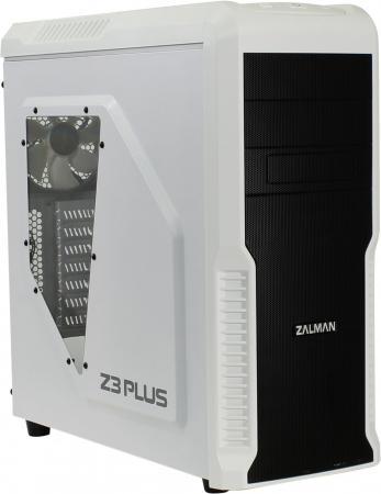 Корпус ATX Zalman Z3 Plus Без БП белый цена и фото