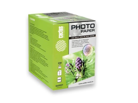 Фото - Бумага Cactus CS-GA6230500 10x15см 230г/кв.м глянцевая 500л бумага cactus cs ga620050 10x15см 200г кв м глянцевая 50л