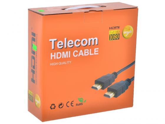Кабель HDMI 15м VCOM Telecom v1.4 2 фильтра CG511D/VHD6020D кабель hdmi 20м vcom telecom v1 4v позолоченные контакты 2 фильтра vhd6020d tc 20mc cg511d carton