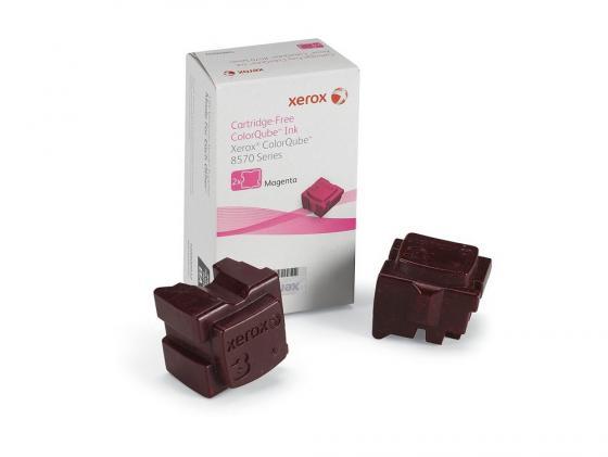 Набор твердочернильных брикетов Xerox 108R00937 для ColorQube 8570 2шт пурпурный 4400стр free shipping 10pcs l7581aae