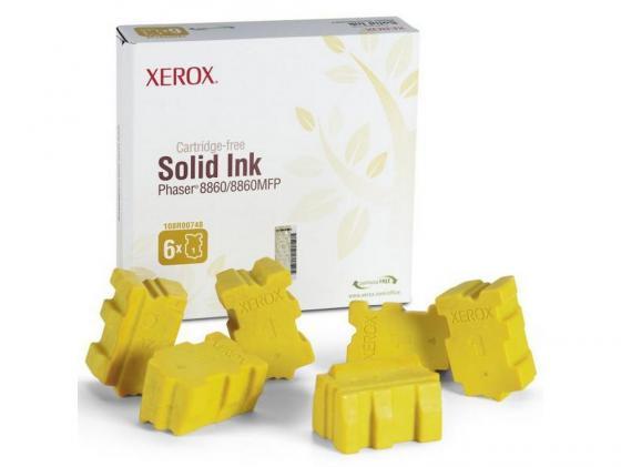 Набор твердочернильных брикетов Xerox 108R00819 для Phaser 8860DN/8860MFP/D 6шт желтый 14000стр