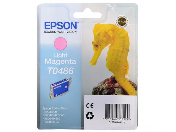 Картридж Epson T048640 для Stylus Photo R200 R300 RX500 RX600 Light Magenta Свтело-Пурпурный epson t0481 c13t04814010 black картридж для r200 r300 rx500 rx600