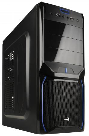 все цены на  Корпус ATX Aerocool V3X Evil Blue Edition Без БП чёрный синий EN57424  онлайн