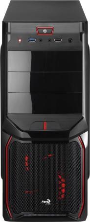 Корпус ATX Aerocool V3X Devil Red Edition Без БП чёрный красный EN57455 корпус aerocool v3x advance black edition 600w