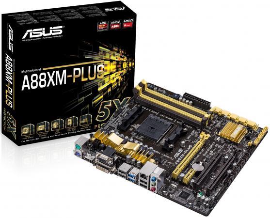 Материнская плата ASUS A88XM-PLUS Socket FM2+ AMD A88X 4xDDR3 2xPCI-E 16x 1xPCI 1xPCI-E 1x 8xSATAIII mATX Retail