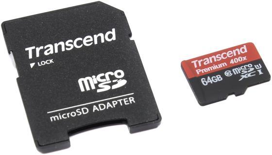 Карта памяти SDXC 64GB Class 10 Transcend UHS-I 300x Premium TS64GSDU1 карта памяти micro sdxc 64gb class 10 silicon power uhs i elite sp064gbstxbu1v10 sp