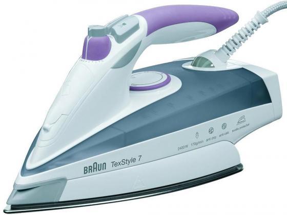 Утюг Braun TexStyle 755 Protector 2400Вт белый серый