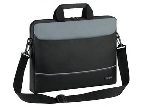 Сумка для ноутбука 15 Targus TBT238EU полиэстер нейлон черный серый TBT238EU-73 сумка для ноутбука targus classic clamshell cn418eu 70 black полистер до 18